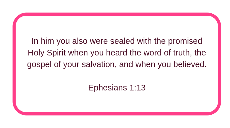 Holy Spirit, our seal